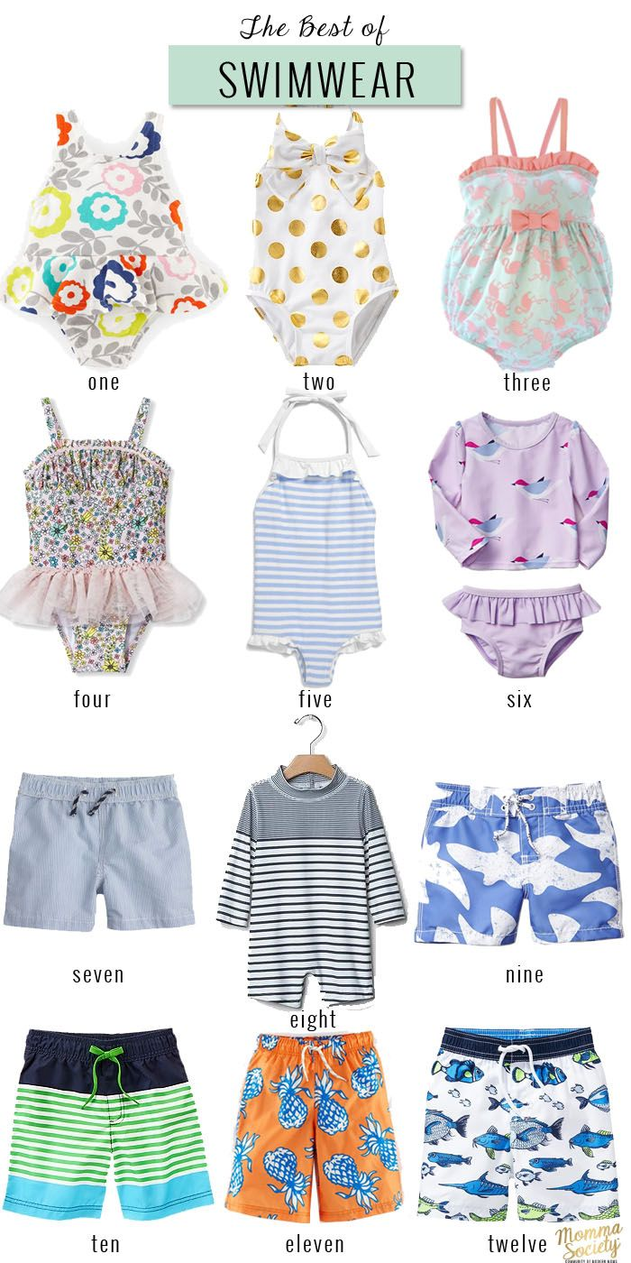The Best of Children's Swimwear 2015 | www.mommasociety.com | Community of Modern Moms