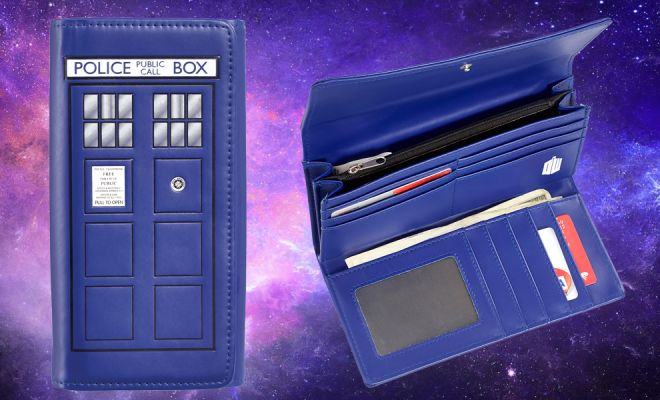 Travel Through Time and Space with the TARDIS Ladies Wallet