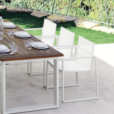 Set 4 Stühle aus modernen Essence Aluminium Garten