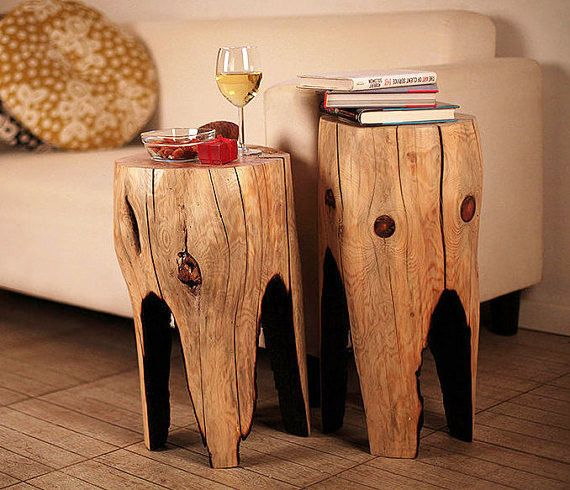 Tree Stump Table, Reclaimed Wood Coffee Table, Small Table, Wooden Furniture,  Rustic Decor, Wood Table, Living Room Decor, Unique Gift - 25+ Best Ideas About Rustic Wood Coffee Table On Pinterest Wood
