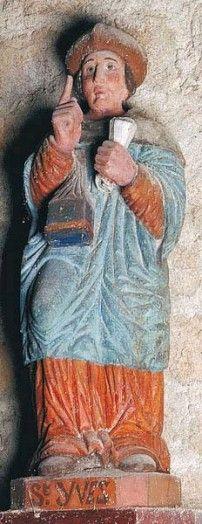 Statue polychrome de la chapelle ND du Resto, Lanester (56).