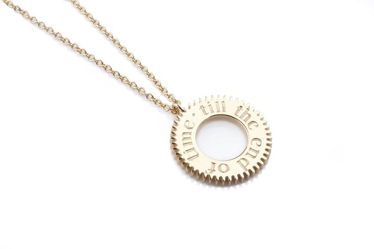 Engraved Time Necklace Gold