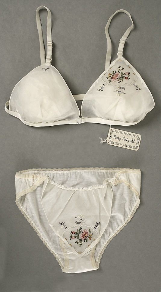 Dear Hanky Panky, please re-release this...it's beautiful. Hanky Panky's first design in the permanent collection of the Costume Institute at the Metropolitan Museum of Art. #lingerie