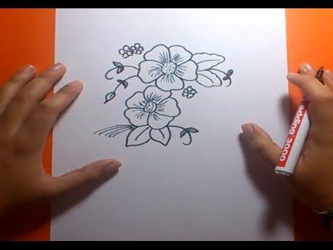 Como dibujar flores paso a paso 2 | How to draw flowers 2 - YouTube