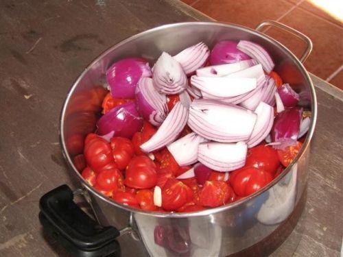 La mia conserva di salsa di pomodoro