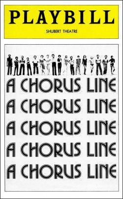 A Chorus Line Playbill - July 1975