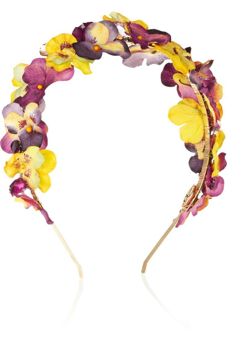 Eugenia Kim|Parker paper-flower and crystal headband|NET-A-PORTER.COM