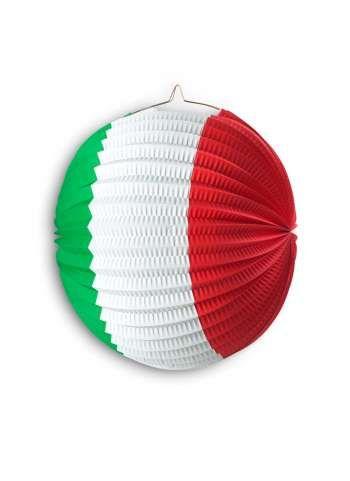 Papierlampion 26 cm Ø Italien, italienische Flagge