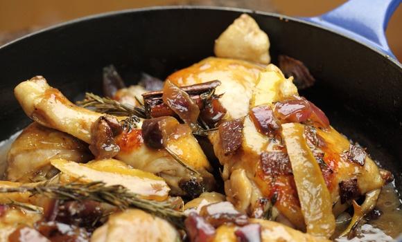 Chicken braised with figs, honey and vinegar - Maggie Beer