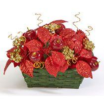 Bulk Christmas Craft: Sparkling Apple Basket at DollarTree.com
