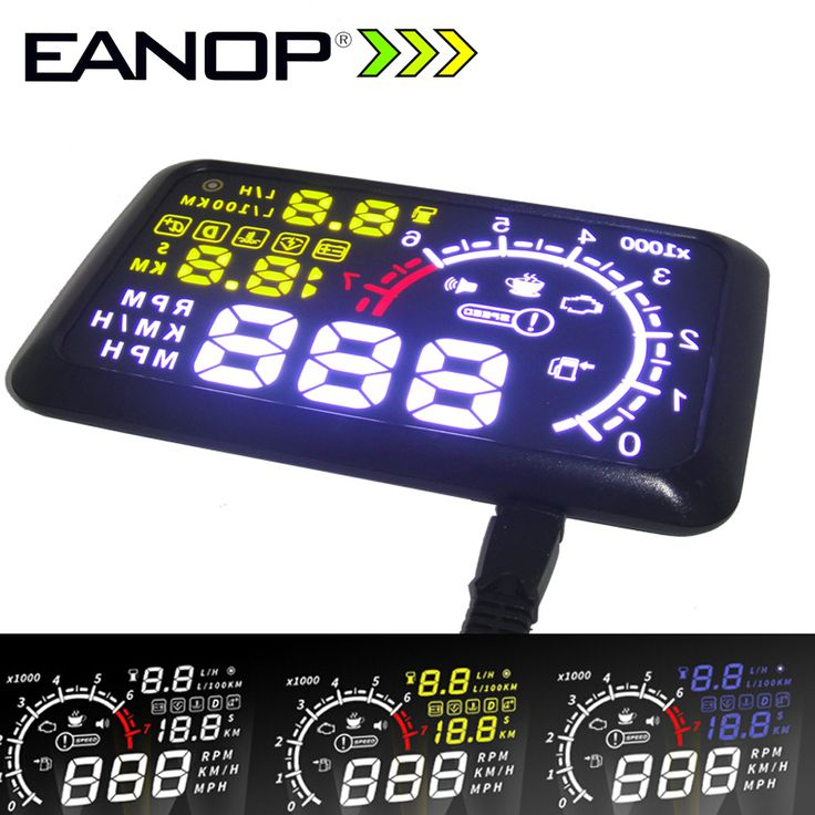 EANOP 5.5 LCD Headup Tampilan HUD OBD ii Mobil Styling Car Kit bahan bakar Overspeed KM/H untuk Toyota Ford BMW Benz Mazada
