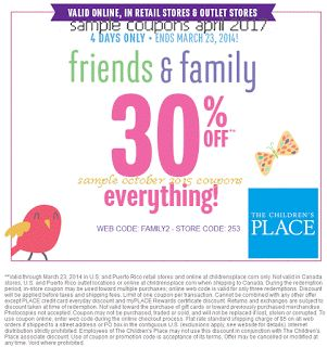 16 best bed bath beyond coupons images on pinterest bed bath free childrens place coupons april 2017 fandeluxe Gallery