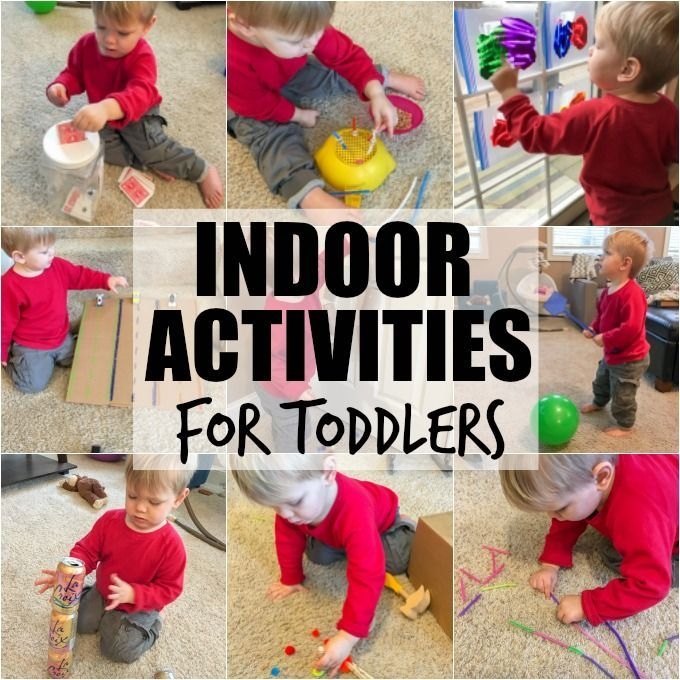 Try these Indoor Activities For Toddlers on cold winter or rainy summer days. They will help with fine motor skills & can be made harder for preschoolers.