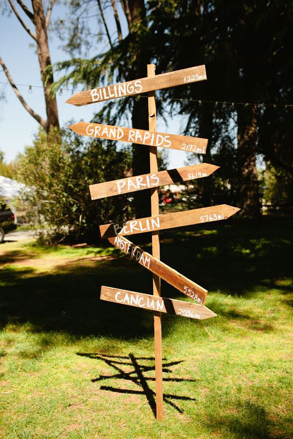 wooden city signs // photo by bvaphoto.com: Driftwood Signs, Wooden Cities, Places Signpost, Bvaphoto Com, Signs Posts, Wooden Wedding Signs, Cities Signs, Wedding Signs Cities, Cherries Valley
