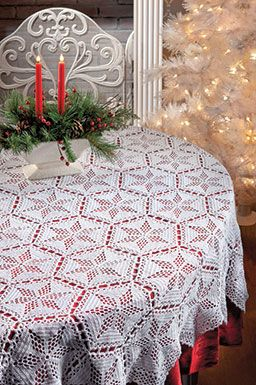 "I don't pin written pattern, but this is very pretty and with a nice written pattern. a treat for all ""Loving Crochet"" followers. Star Tablecloth ♥LCP-MRS♥ Happy re-pinning."