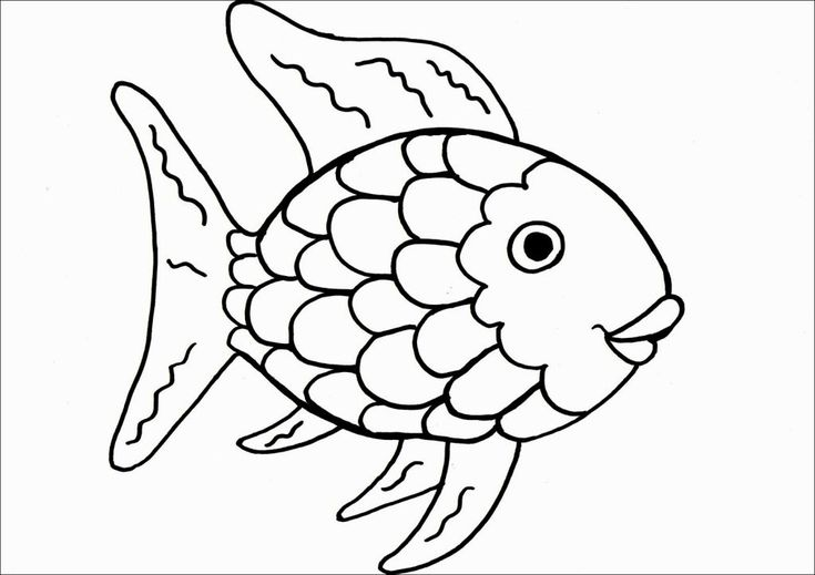 Image for Rainbow Fish Coloring Sheet