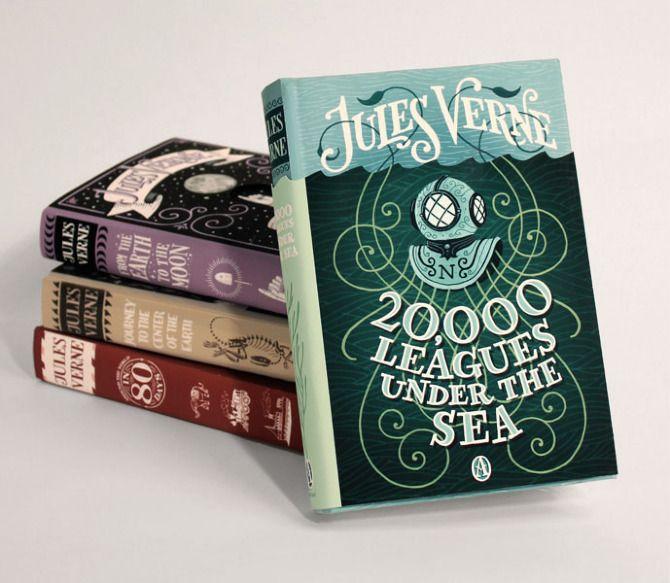 Jules Verne seriesClassic Book, Jules Verne, Graphics Design, Covers Design, Jim Tierney, Book Covers, Book Design, Art Illustration, The Sea