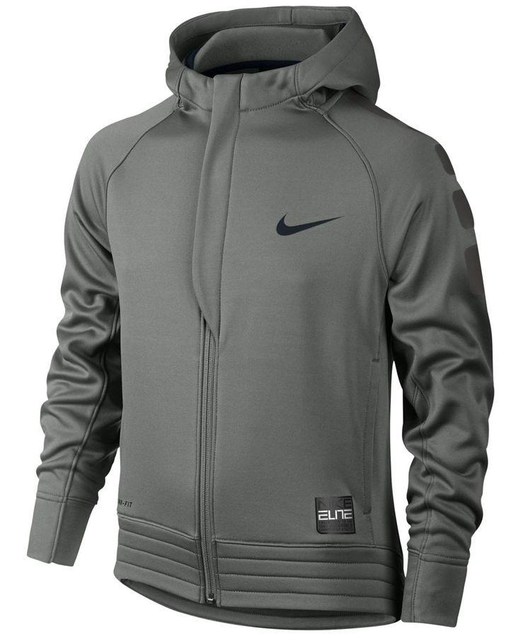 Nike Boys' Elite Stripe Zip-Up Hoodie