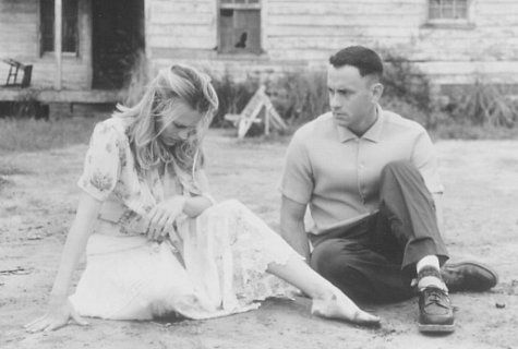 Still of Tom Hanks and Robin Wright in Forrest Gump