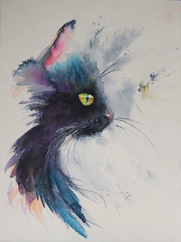 Cat watercolour illustration