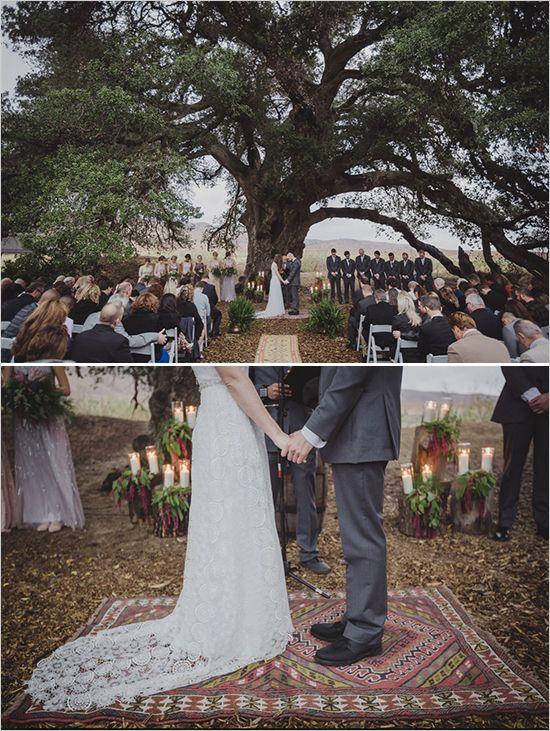 Vintage Rugs Weddingchicks Wedding Ceremony Ideas