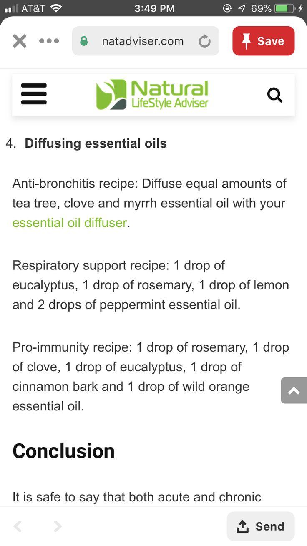Diffusing oils for bronchitis/pneumonia Danielle Sabatini