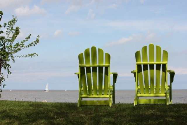 These chairs made for a great viewing spot to view the sail boats on beautiful Lake Winnipeg!