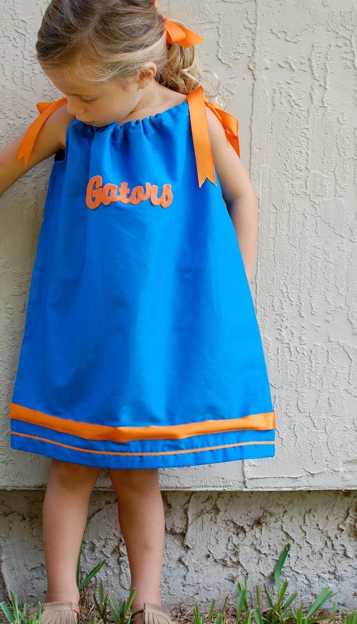 Gator Pillowcase Dress - simply adorable: Pillow Cases, Dress Tutorials, Dresses Tutorials, Florida Gators, Pillowcase Dresses, Pillow Case Dresses, Pillows Cases Dresses, Pillowcases Dresses, Pillowca Dresses