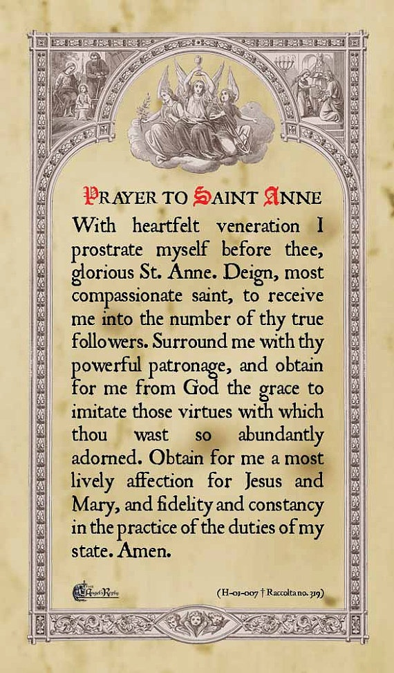saint anne christian personals Christian iconography – from a sermon by bishop saint john damascene this church is dedicated to saint anne who protects all voyageurs.