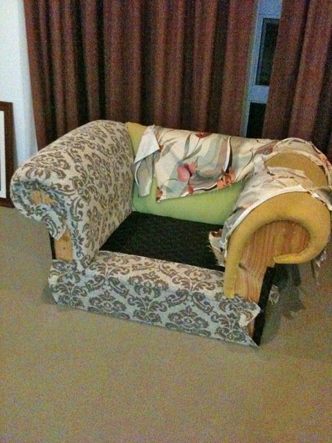 Upholstery diy with start to finish instructions