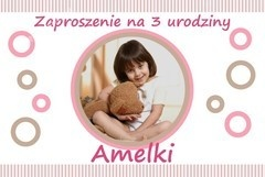 Baby birthday invitatiion / Zaproszenie na urodzinki