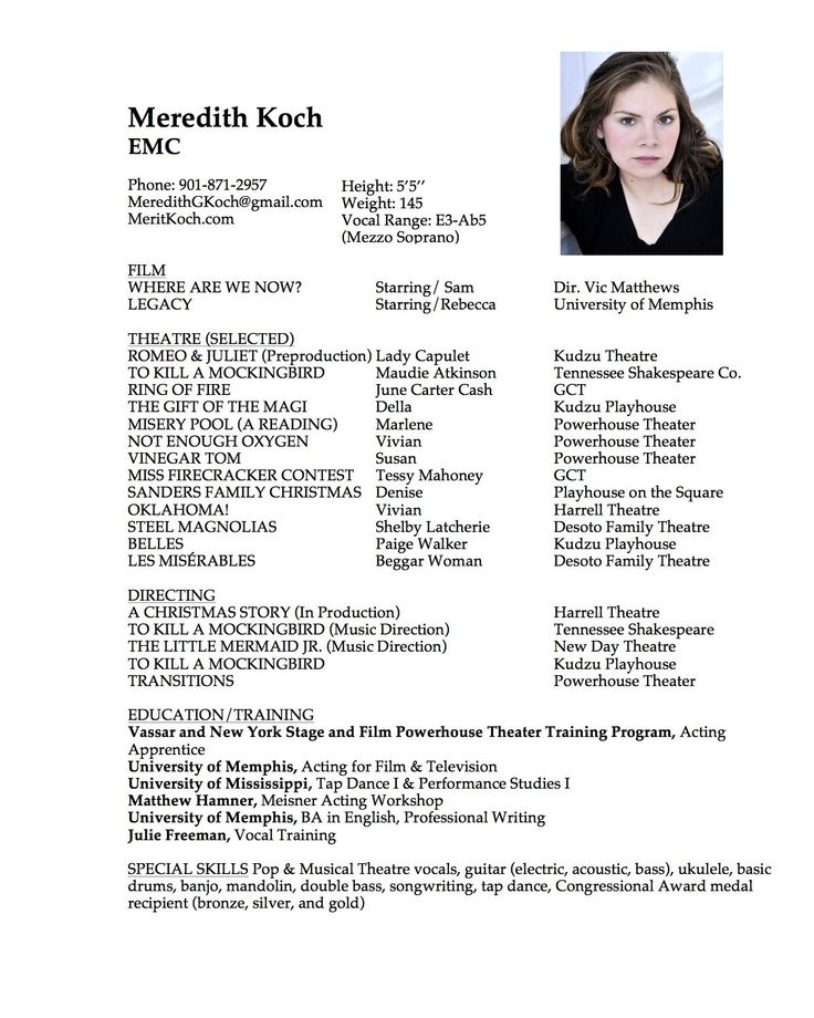 30+ Child actor resume sample Examples