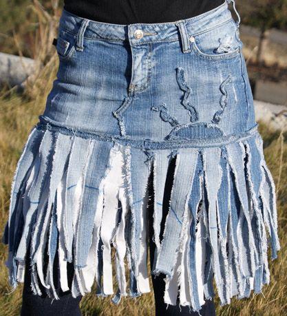 Upcycled Denim Skirts