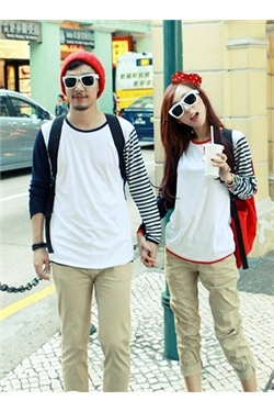 Cheap cute couple hoodies and Korean style couple T,shirts for sale online for Valentines Day with big discounts. View latest matching couple outfits