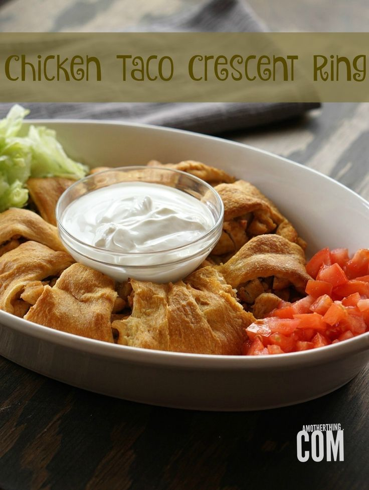 Today's Daily Dish Recipe is Chicken Taco Crescent Ring.