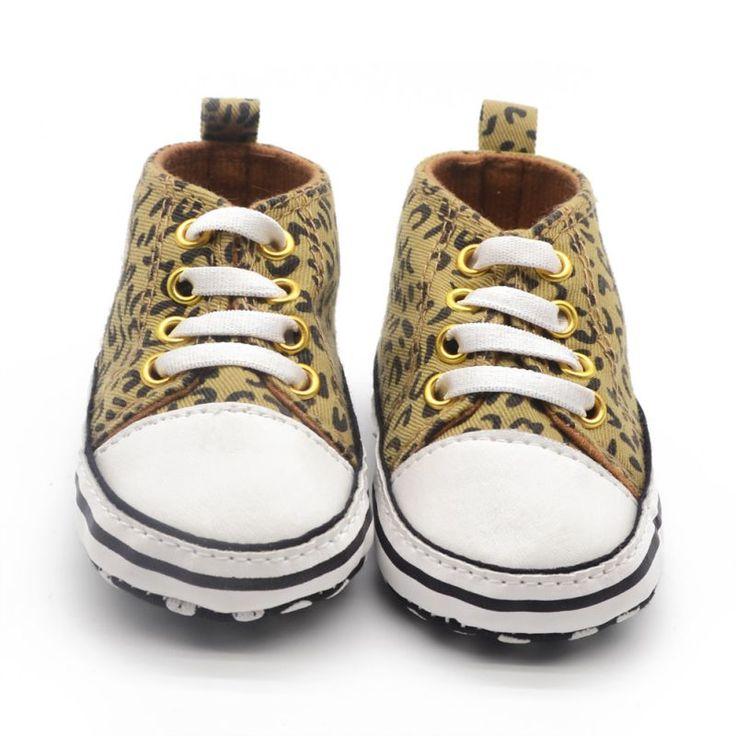 Малыши ребенка леопарда холст свободного покроя кроссовки мягкой подошвой кроватки обувь для ходьбы ShoesZQ1
