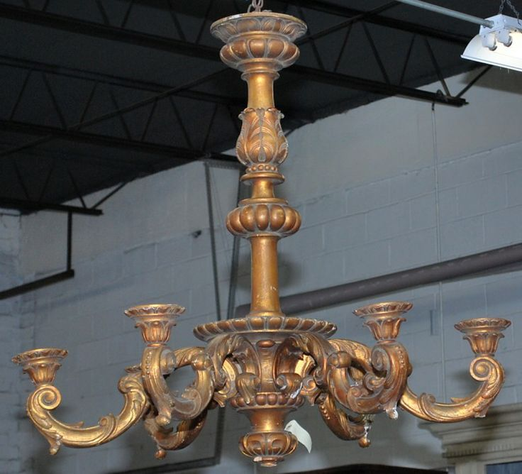 http://thegablesantiques.com Gilded wood chandelier in the Louis XIV style  with - 24 Best The Gables Antiques - Chandeliers Images On Pinterest