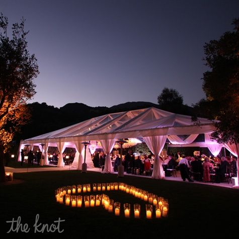 Afraid of bad weather? Just go with tents and you will have a beautiful outdoor reception.