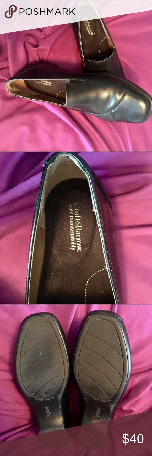 EUC Black Leather Loafers Nice Black Leather Loafers Great For Work Or Casual-Small Repaired Scratch On Left Front Toe -Other Than That Excellent Condition. croft & barrow Shoes Flats & Loafers