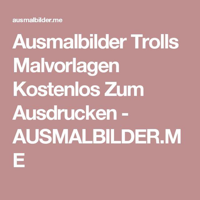 Ausmalbilder Trolls Malvorlagen Kostenlos Zum Ausdrucken - AUSMALBILDER.ME