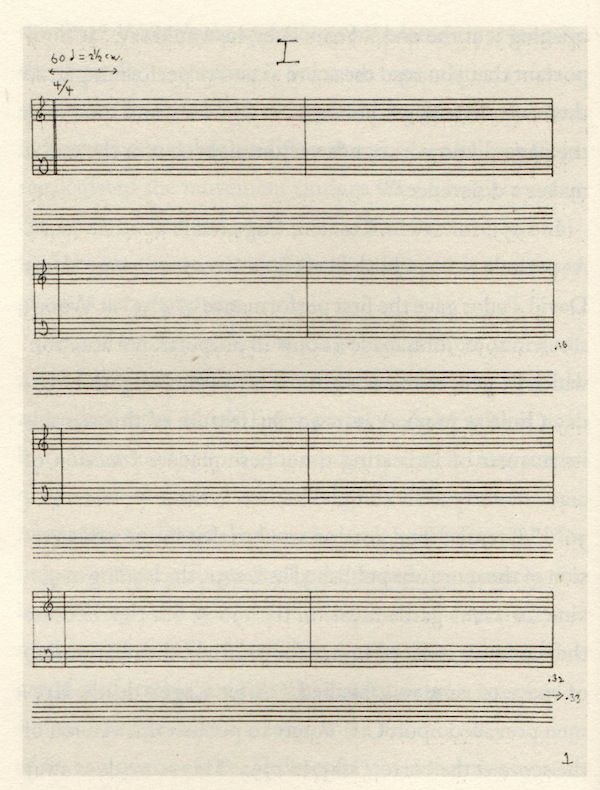 "The score for John Cage's famous 4'33"" music piece. No further words needed."