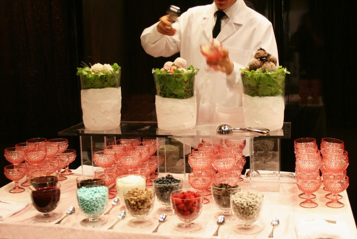 Modern Vintage Ice Cream Bar: Peter O'Toole, Wedding, Callahan Catering, Www Greateventscatering Com, Calahan Catering, Chief, Colored Glass, Catering Events
