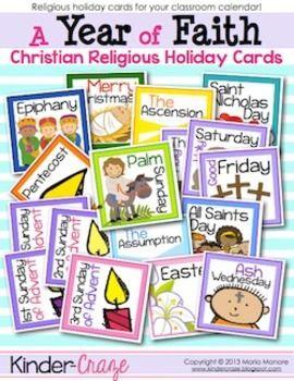 A Year of Faith Calendar Reminder Cards FREEBIE