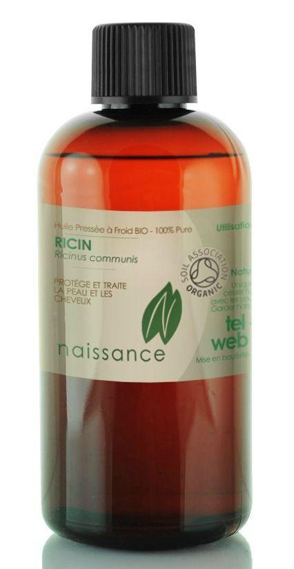 huile végétale de ricin pressée à froid bio 100 pure certifiée bio