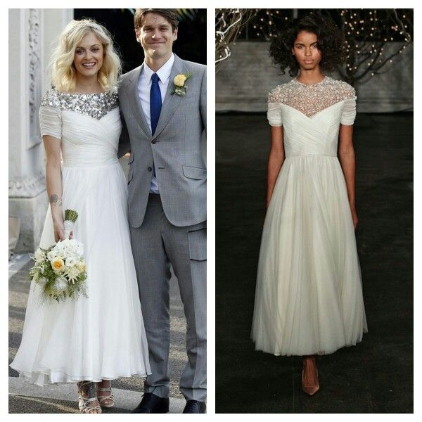 Fearne Cotton S Alleged Pucci Wedding Gown Looks Suiously Like A Custom Jenny Packham Mary