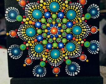 Blue Mandala Stone/Painted Rock/Miranda by P4MirandaPitrone