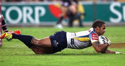 This bloke. This is the guy who made me love rugby league! Matty Bowen scoring tries for the North Queensland Cowboys!