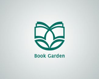 Book Garden Library logo (unused proposal) by Maryam  #book  #logo