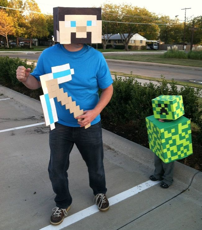 creeper costume diy | These Minecraft costumes are an even simpler version of the pixelated ...