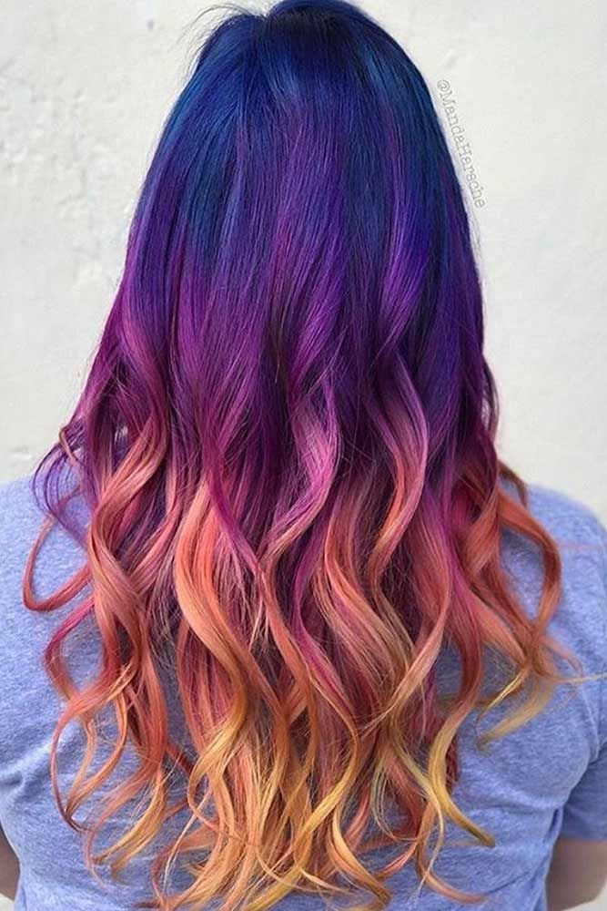 Cool Colors To Dye Your Hair: The Packed Collection Of The Most Vivid Purple Ombre Hair